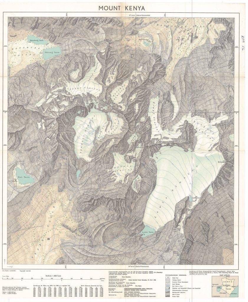 Schneider (1964). Lewis Glacier, Mount Kenya, 1963.